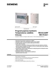 Temperatūros valdiklis ir imtuvas REV23 - Siemens