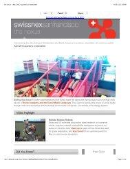 the nexus - April 2012 quarterly e-newsletter - swissnex San Francisco