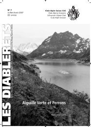 Juillet - Club Alpin Suisse - Section des Diablerets