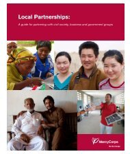 Local Partnerships: - Mercy Corps