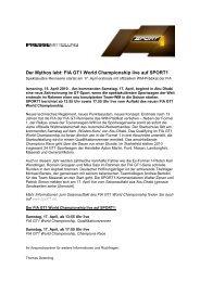Der Mythos lebt: FIA GT1 World Championship live auf SPORT1