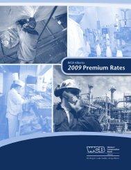 WCB-Alberta 2009 Premium Rates - Workers' Compensation Board