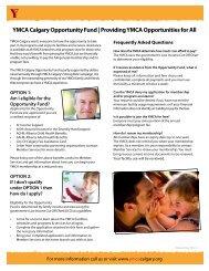 Financial Assistance - YMCA Calgary