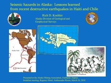 Seismic hazards in Alaska: Lessons learned from recent destructive ...