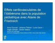 Effets cardiovasculaires de l'Idébénone dans la population l ...