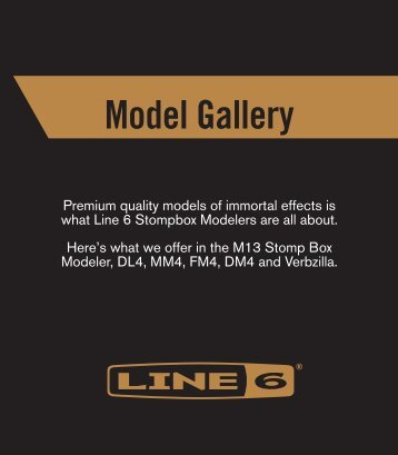 Model Galler - M13 Stompbox Modeler, DL4 Delay Modeler ... - Line 6
