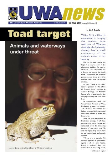 39813_UWA News#10.indd - UWA News staff magazine - The ...