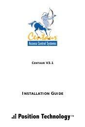 Centaur 3.1 : Installation Manual