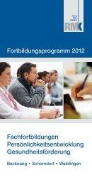 Fortbildungsprogramm 2012 Fachfortbildungen - Rems Murr Kliniken