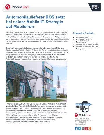 Automobilzulieferer BOS setzt bei seiner Mobile-IT ... - MobileIron