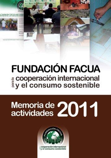 Memoria de actividades 2011 de la Fundación FACUA