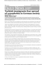Turkish immigrants fear spread of xenophobia in German society