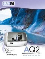 AQ2 Chemistry Analyzer Product Information - Fluidquip Australia