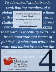 Fourth grade curriculum guide - Middleton Cross Plains Area School ...