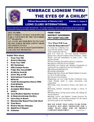 embrace lionism thru the eyes of a child! - Lions District 4-A1