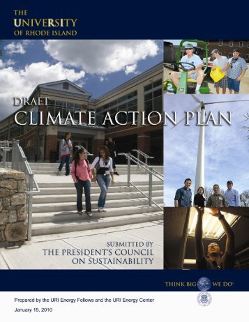Climate Action Plan - University of Rhode Island