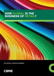 CBRE - How Global is the Business of Retail