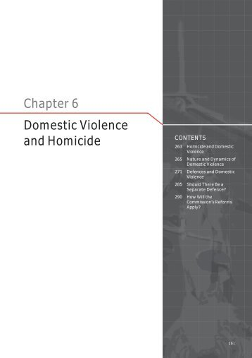 Chapter 6 Domestic Violence and Homicide - Law Reform ...