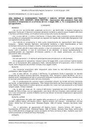 Giunta Regionale della Campania Bollettino Ufficiale della Regione ...