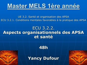 Master MELS 1ère année - Université Lille 2 Droit et Santé