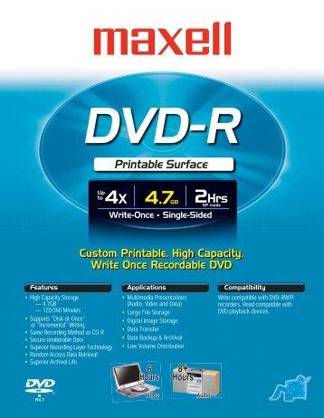 DVD-R Printable - Maxell Canada