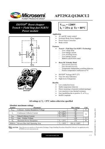 APT25GLQ120JCU2 - Richardson RFPD