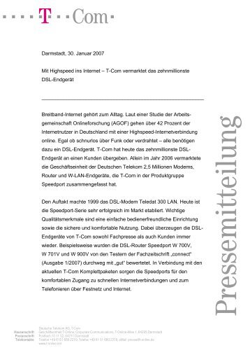 PM Fax T-Mobile Deutschland Deutsch - T-Online