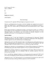 Den 30. august 2011 blev i sag nr. 71/2008-R K ... - Revisornævnet