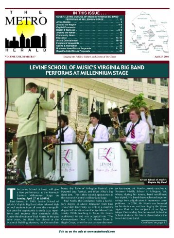 levine school of music's virginia big band performs - The Metro Herald