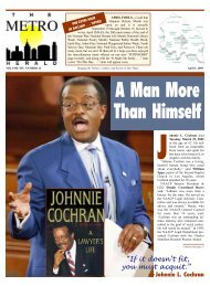 A Man More Than Himself - The Metro Herald