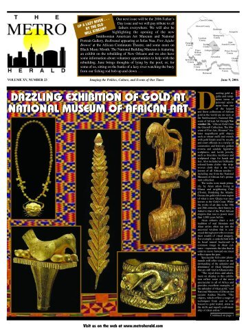 dazzling exhibition of gold at national museum of ... - The Metro Herald