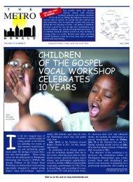 children of the gospel vocal workshop celebrates ... - The Metro Herald