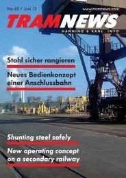 Neues Bedienkonzept einer Anschlussbahn Stahl ... - Hanning & Kahl