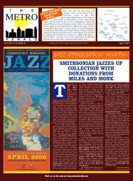Jazz Appreciation Month - The Metro Herald