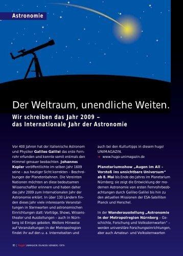 Der Weltraum, unendliche Weiten - Hugo - Internationales Jahr der ...