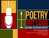 Program from the 2007 Nevada Poetry Out Loud Contest