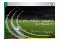 Talentsichtung & –förderung im DFB und bfv