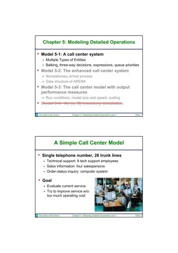 Chapter 5: Modeling Detailed Operations