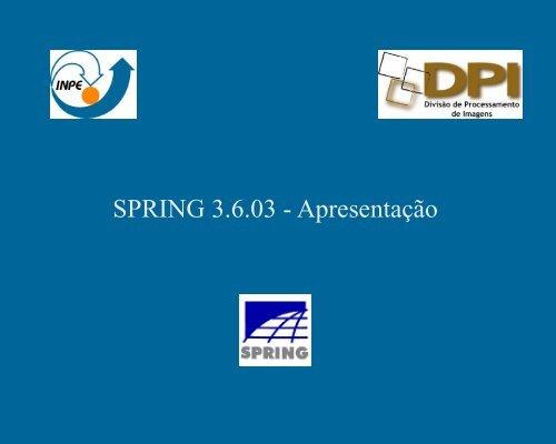 Programa SPRING - INPE-DGI