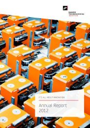 Annual Report 2012 (11 MB) - Danish Technological Institute