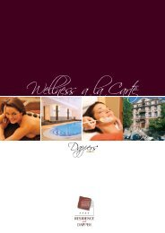 Wellness a la Carte - Wellnesshotel Residence Dapper