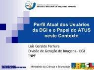 Serviços e Imagens: Por uma nova relação público ... - INPE/OBT/DGI