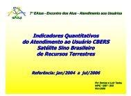 Indicadores Quantitativos do Atendimento ao ... - INPE/OBT/DGI