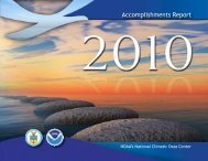Accomplishments Report - National Climatic Data Center - NOAA