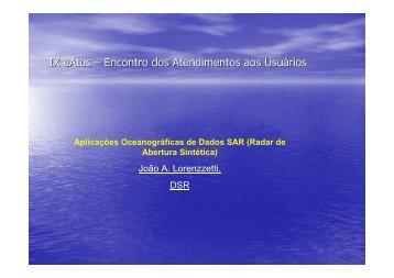 Aplicações Oceanográficas de Dados SAR - INPE/OBT/DGI