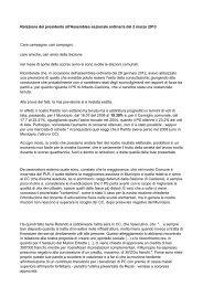 Relazione del presidente all'Assemblea sezionale ordinaria del 2 ...