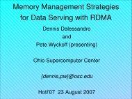 Presentation (PDF) - Pete Wyckoff