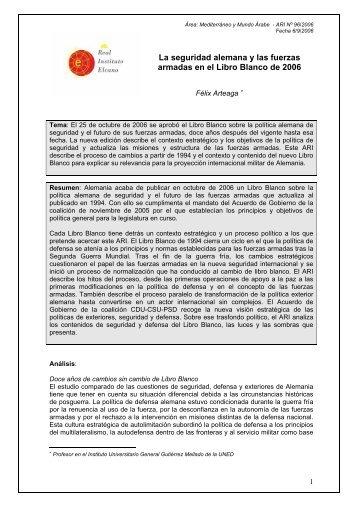 Seguridad alemana y fuerzas armadas Libro ... - Documentos TICs