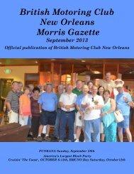 September - British Motoring Club New Orleans