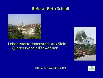 Referat Reto Schibli - Stadtmarketing Schweiz